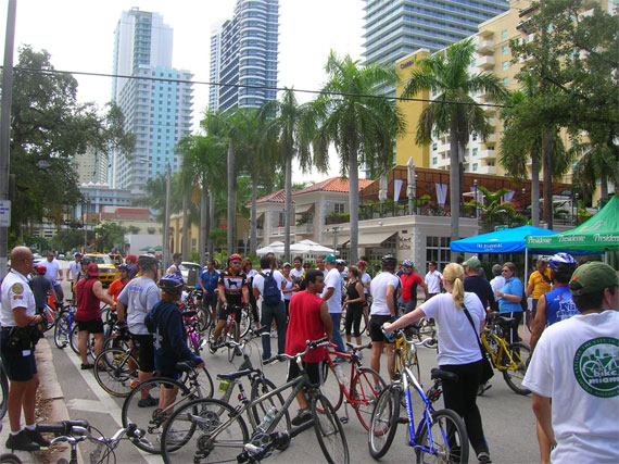 Bikes Miami streets for Bike Miami