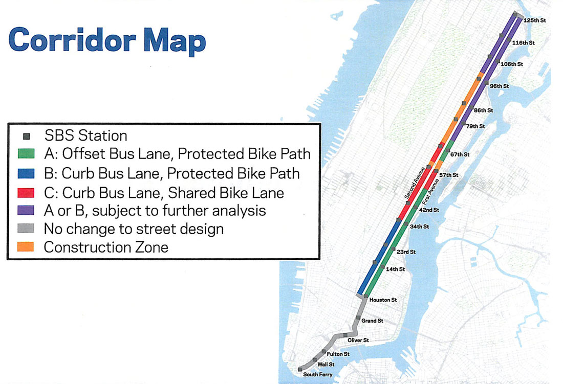 Proposed 2nd Ave Subway Map.Will 2nd Ave Get Its Protected Bike Lane After Subway Construction