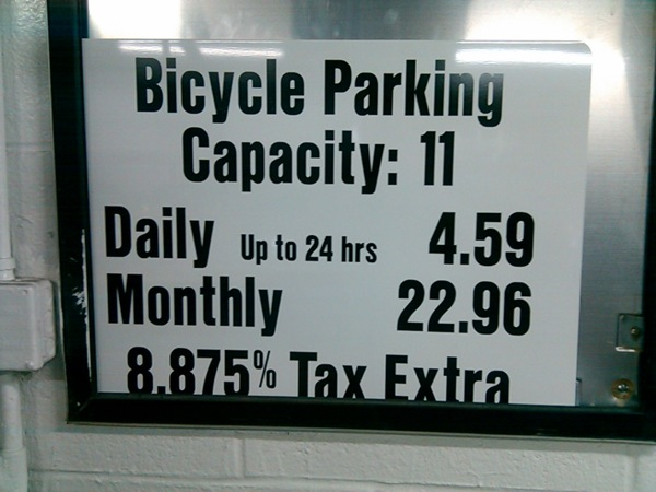 For A Reasonable Price On Bike Parking Try Brooklyn