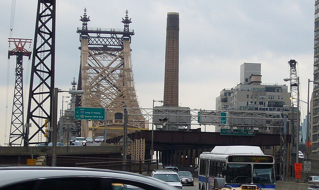 Bus riders shouldn't have to sit in traffic across the Queensboro Bridge. Photo: _ via Flickr.