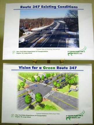 Expanding GreenLITES would help ensure that sustainable design is part of a project's DNA, rather than being added on top of a road widening as on Long Island's Route 347. Image:
