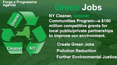 The smart growth grant program, framed as green jobs, made it into the governor's State of the State slideshow.