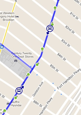 real time bus info arrives along the b63 streetsblog new york city