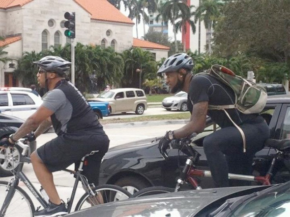 Bike James Intervals LeBron James Bikes to Work