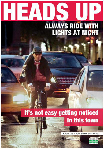 Dot s newest psa caign urges cyclists and pedestrians to pay