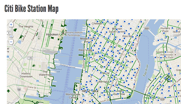 Bike Nyc Maps Alta Bikeshare and NYC DOT