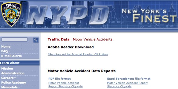 Collision Reports Now Available Online: NYPD - NBC New York