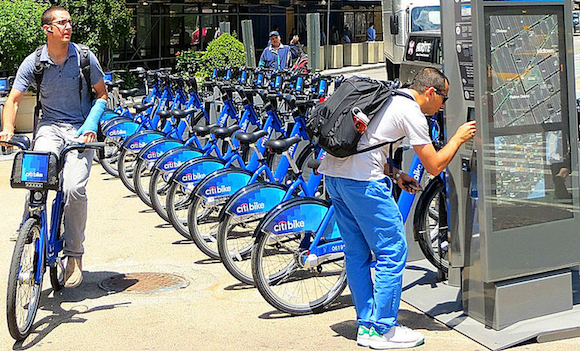 Most Citi Bike users ride bike-share for work or errands. Photo: John Wisniewski/Flickr