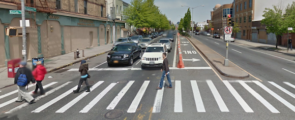 McGuinness Boulevard at Nassau Avenue, where Nicole Detweiler died a week ago and Solange Raulston died in 2009. Photo: Google Maps