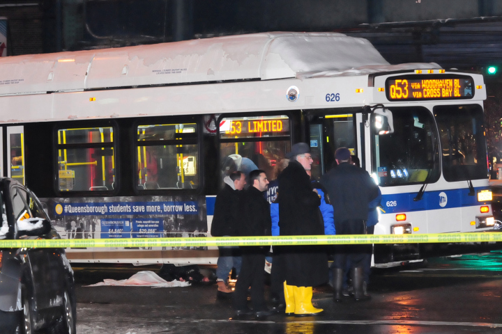 was fatally struck by an MTA bus driver in Jackson Heights. Photo: ##http://nypost.com/2014/02/03/mta-bus-fatally-strikes-woman-in-queens/##NY Post##