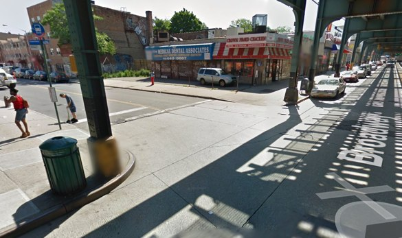 Broadway at Halsey Street in Bushwick. Image: Google Maps