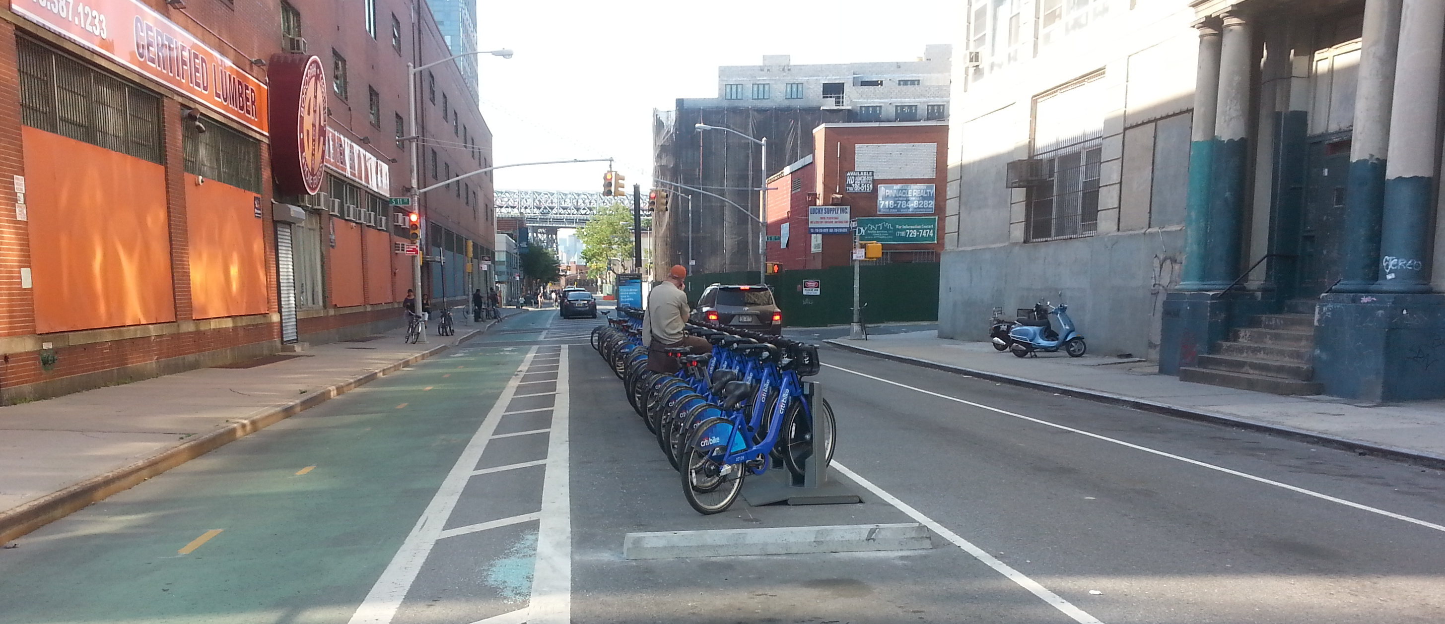 Parking for 27 bikes has replaced parking for four or five cars, and complaints abound. Photo: Stephen Miller