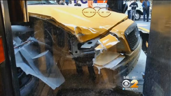 As far as Bill de Blasio's NYPD and TLC are concerned, this never happened. Image: CBS 2