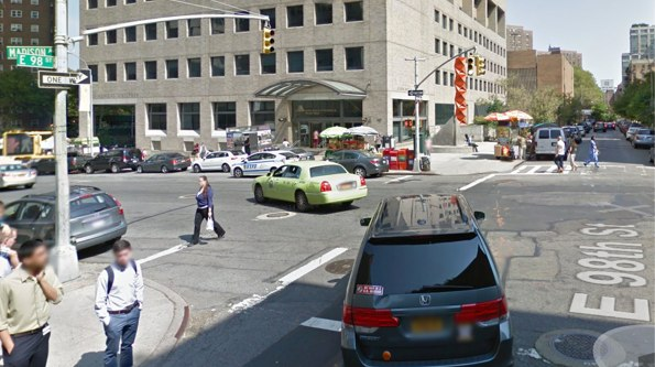 Keiko Ohnishi was hit in a crosswalk by an accused unlicensed driver. The driver was charged with unlicensed operation and failure to yield but was not charged under the city's new Right of Way Law. Image: Google Maps