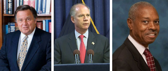 Left to right: District attorneys Richard Brown, Dan Donovan, and Robert Johnson are up for re-election in 2015. NYC DAs have emerged as a major obstacle to Mayor de Blasio's Vision Zero program.