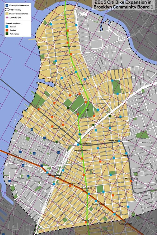 Citi Bike Releases Map Of Williamsburg And Greenpoint