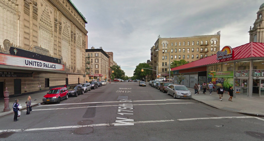 Today, 175th Street is an extra-wide asphalt expanse. Photo: Google Maps