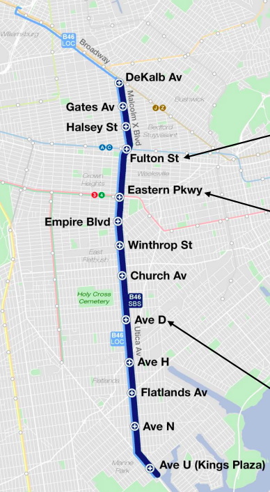 B46. Map: DOT/MTA