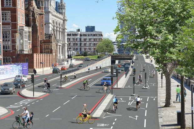Is the grass just greener? London's planned cycle superhighways. Image: Transport for London