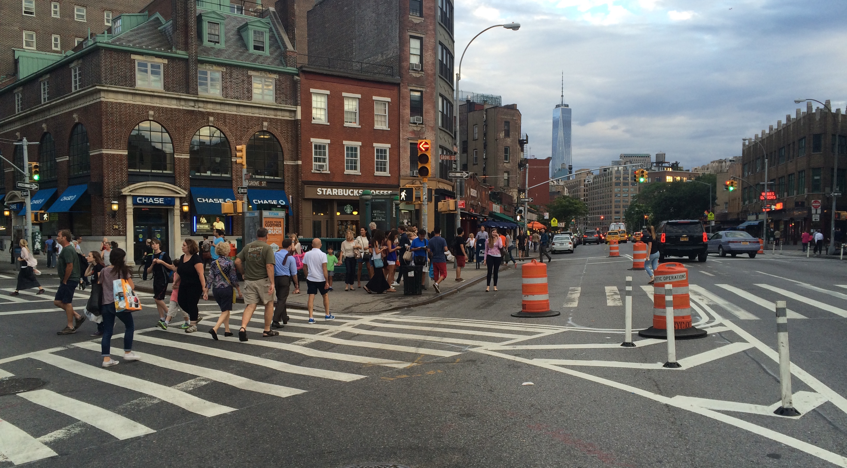 Pedestrians have a bit more breathing room, and a head start on turning drivers, at Seventh Avenue South and W. 4th Street.