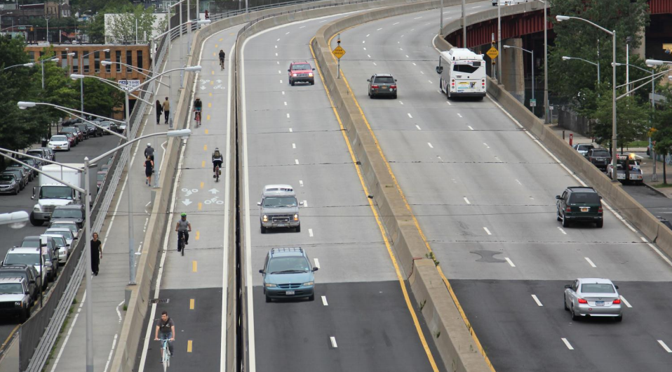 Wait til next year, again: The Pulaski Bridge bike path has been delayed until April 2015. Rendering: DOT
