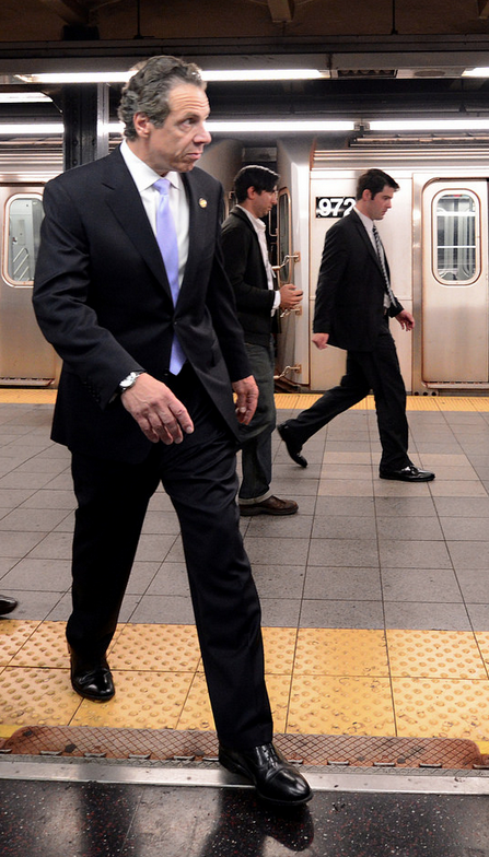 If Cuomo wants de Blasio's money, he'll have to bend to de Blasio's demands. Photo: New York City Transit/Flickr