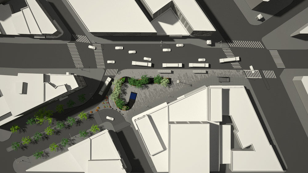Roberto Clemente Plaza in Mott Haven is supposed to look like this, someday. Image: Garrison Architects