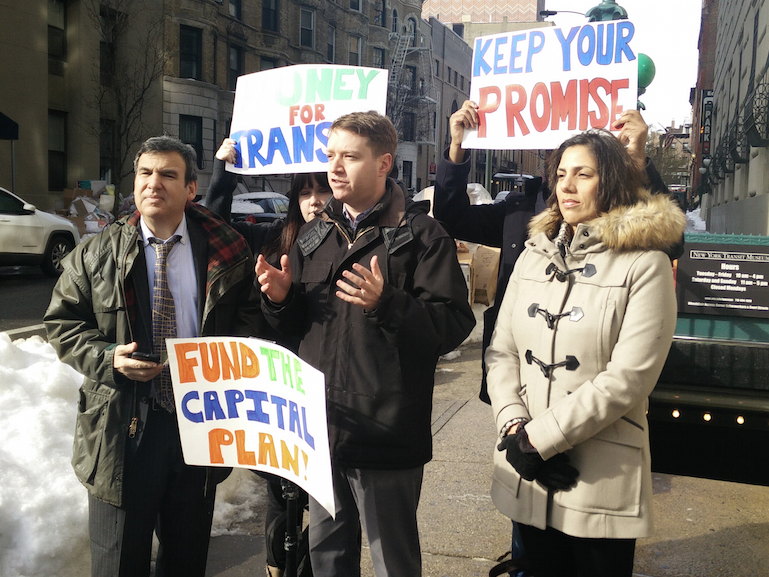 Transit advocates say the governor's proposed budget breaks his promise to fund the MTA capital plan. Photo: David Meyer