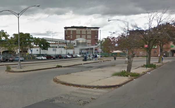 In conjunction with EDC, DOT plans to redesign the area around Far Rockaway's downtown transit hub. Image: Google Maps