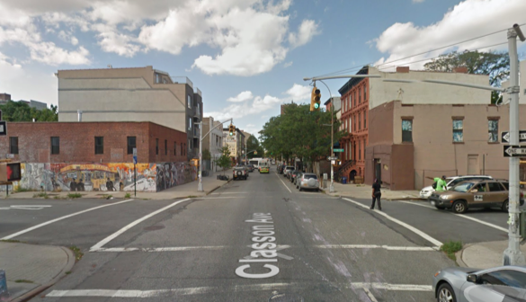 "A driver struck and killed a cyclist at Classon Avenue at Lexington Avenue. Image"" Google Maps"