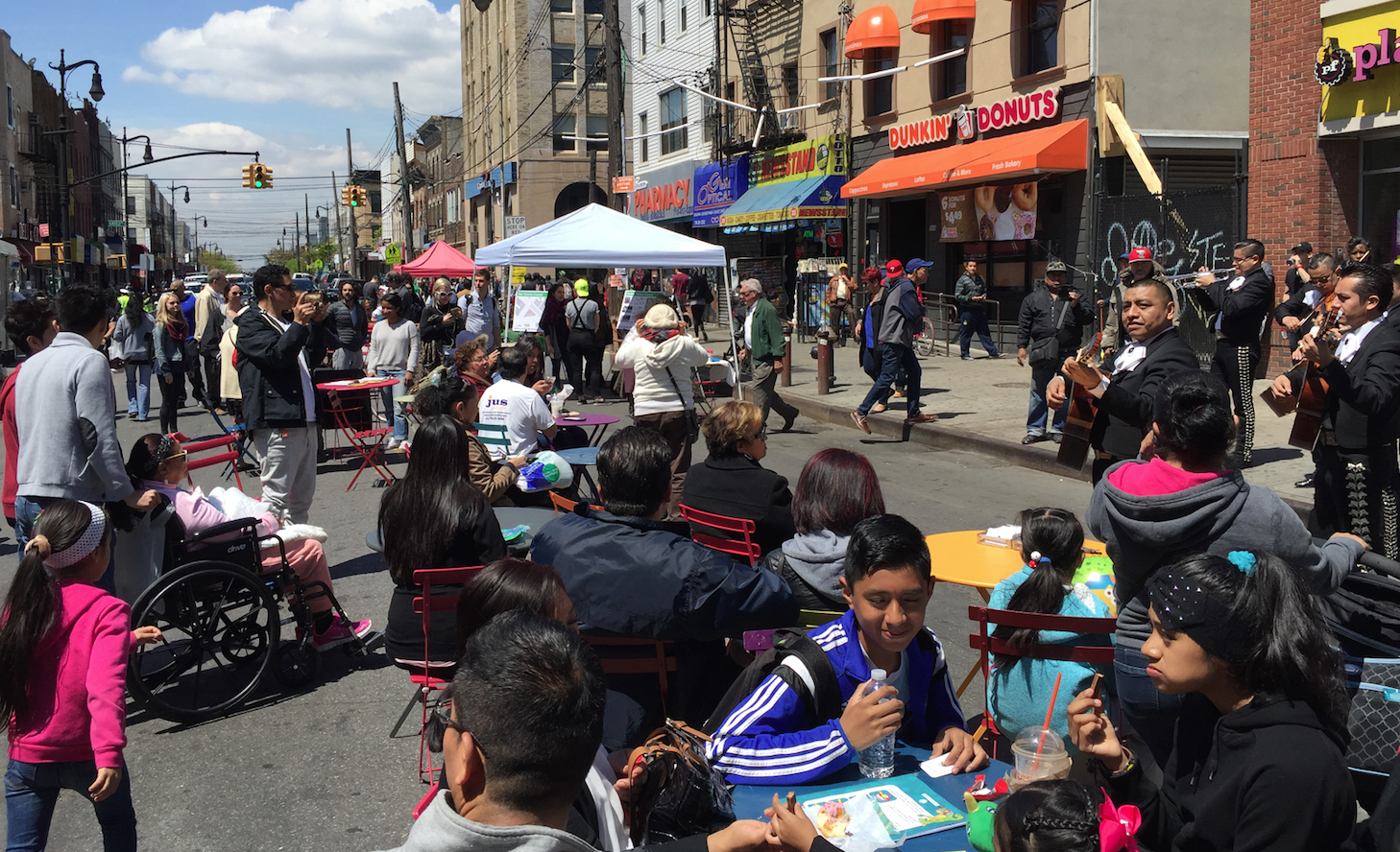 The city held a successful one-day plaza at the location in April. Photo: David Meyer