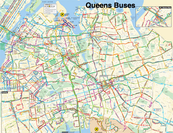 on queens bus map
