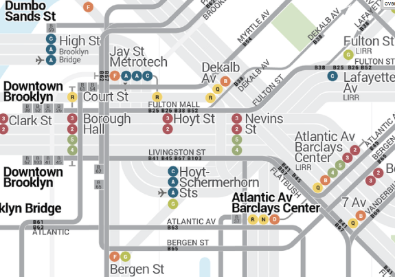 Nyc Map It.New York City Subways And Buses All On A Single Map Streetsblog