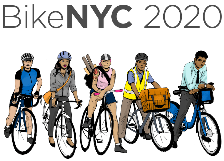 Transportation Alternatives wants to hear from New Yorkers of all stripes for its BikeNYC 2020 Campaign. Image: Transportation Alternatives