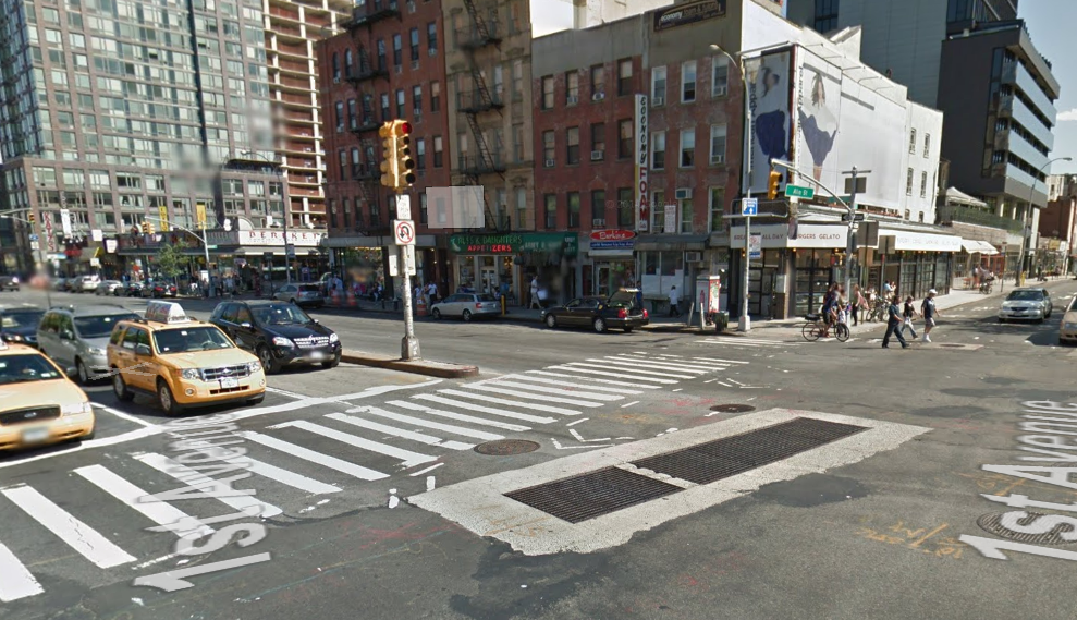 East Houston and First Avenue in June 2011. Photo: Google Maps